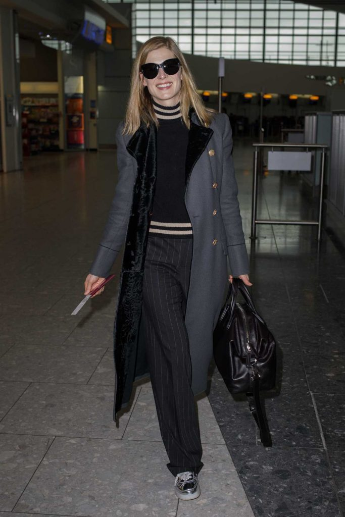 Rosamund Pike Was Seen at Heathrow Airport in London 02/03/2017-1