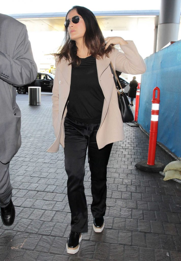 Salma Hayek at LAX Airport in Los Angeles 01/30/2017-2
