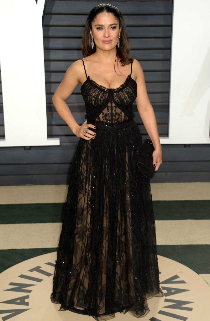 Salma Hayek at the 2017 Vanity Fair Oscar Party Hosted by Graydon Carter in Beverly Hills 02/26/2017-1
