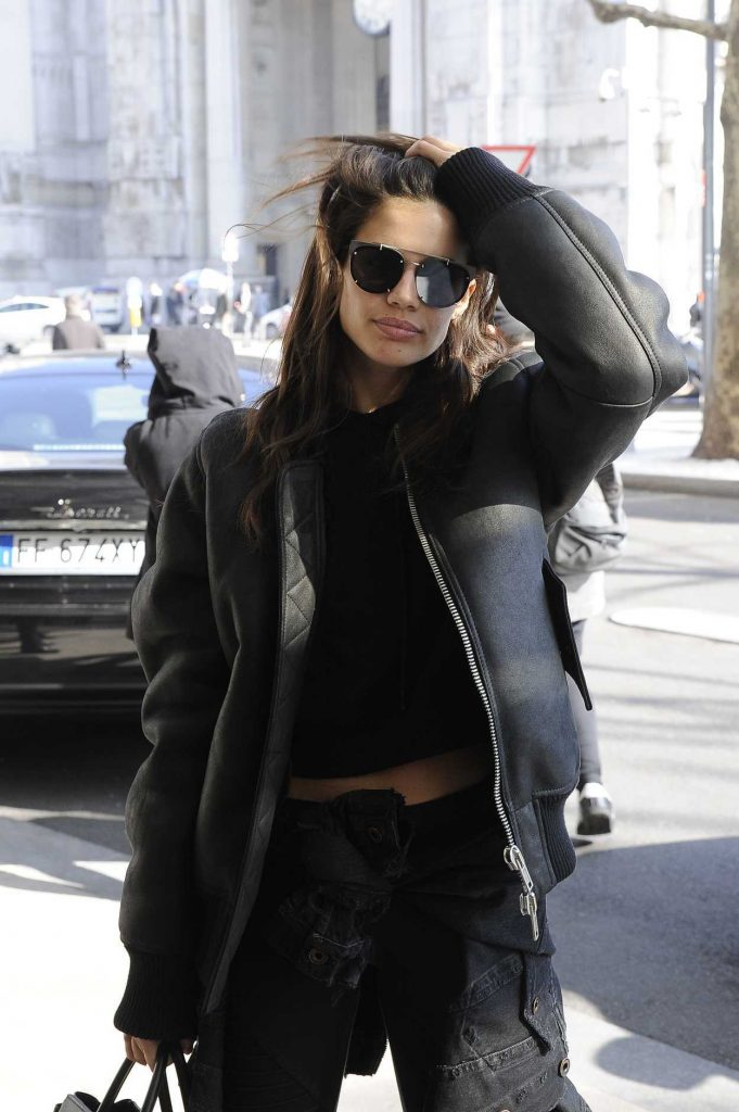Sara Sampaio Was Seen Out in Milan 02/21/2017-2