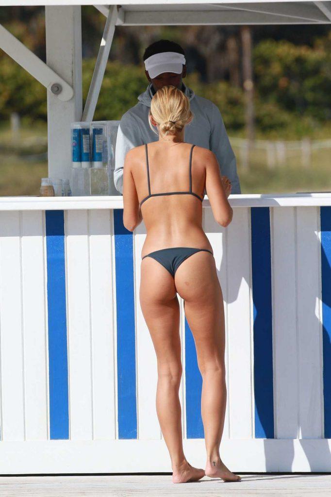 Selena Weber in Bikini at the Beach in Miami 01/30/2017-4