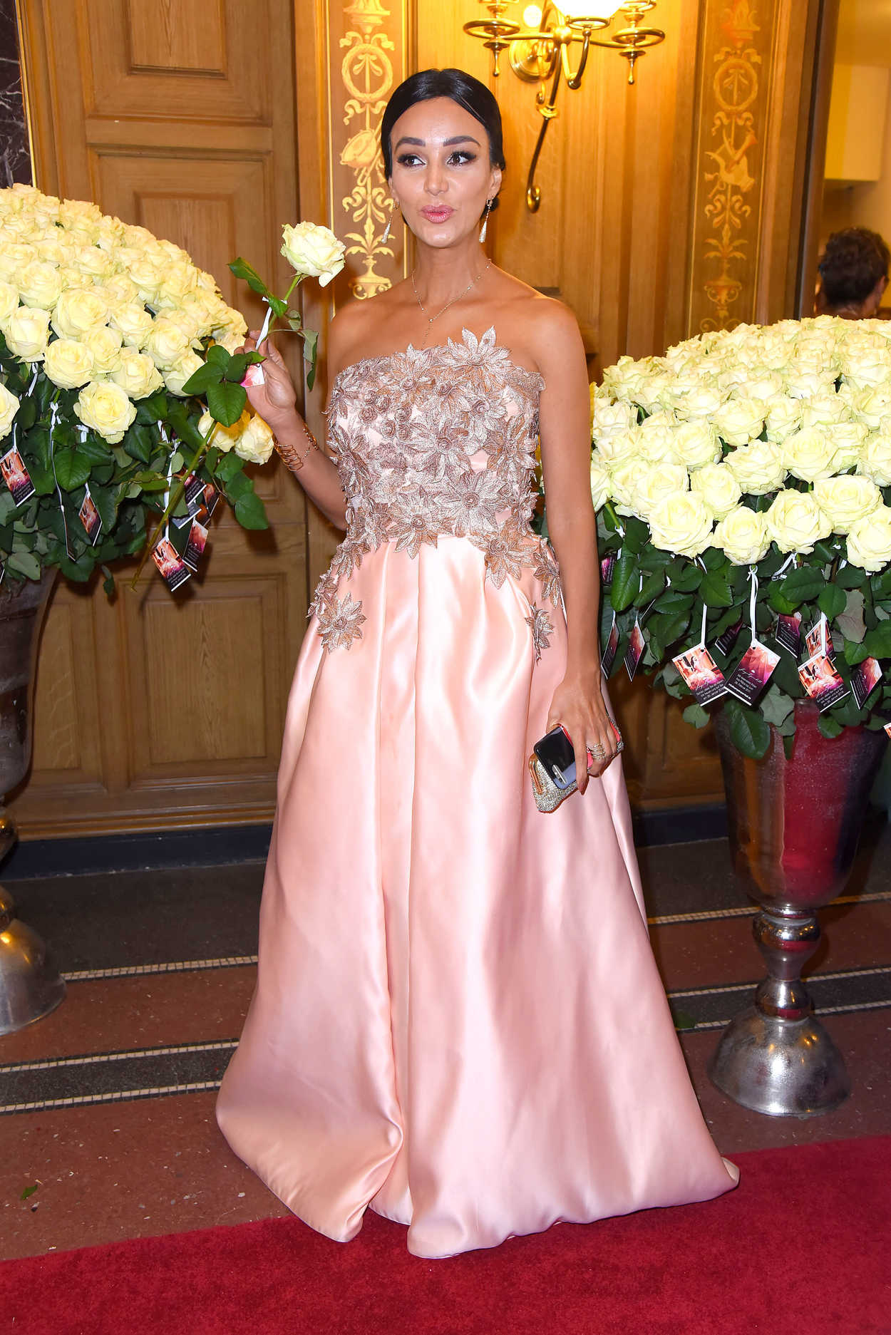 Verona Pooth at the 12th Annual Sempe Opernball in Dresden