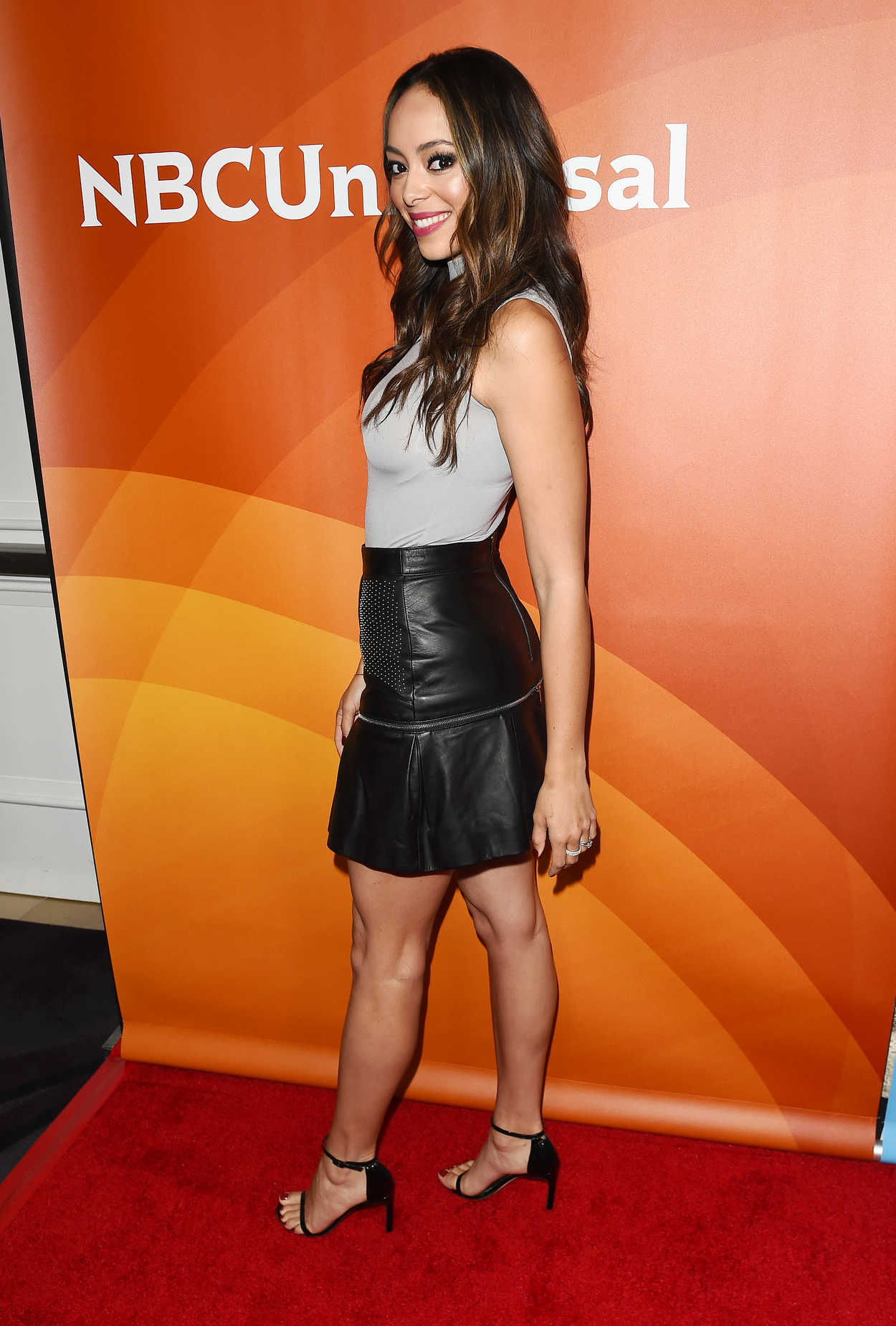 Amber Stevens West at the NBCUniversal Summer Press Day in ...