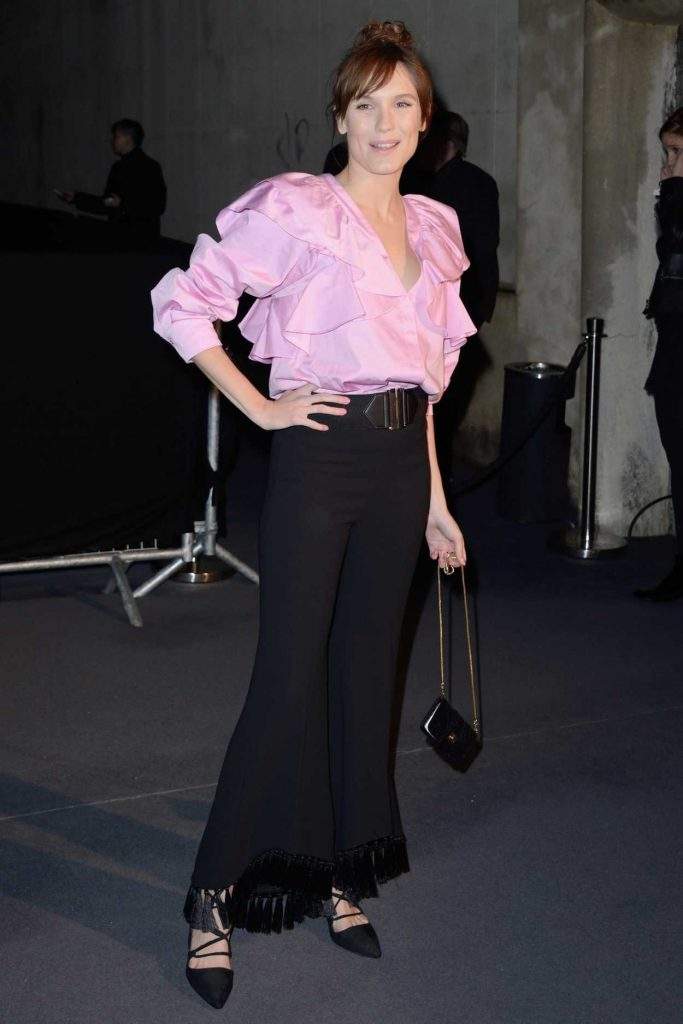 Ana Girardot at the H and M Show During the Paris Fashion Week 03/01/2017-2