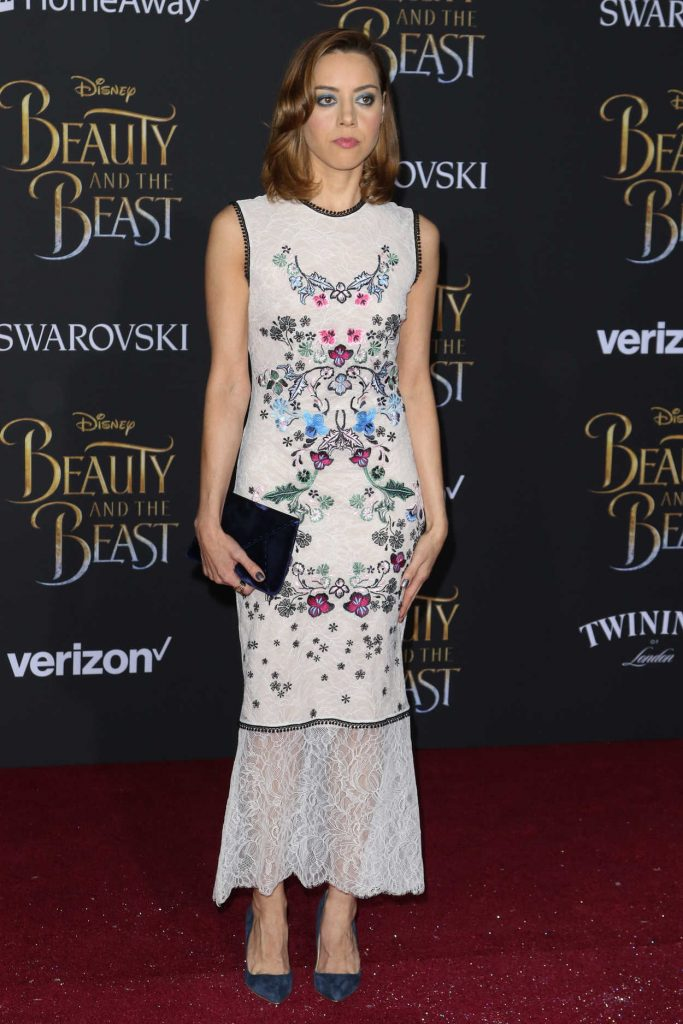 Aubrey Plaza at the Beauty and the Beast Premiere Los Angeles 03/02/2017-1