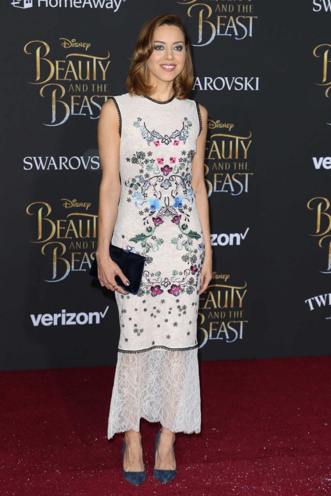 Aubrey Plaza at the Beauty and the Beast Premiere Los Angeles 03/02/2017-2