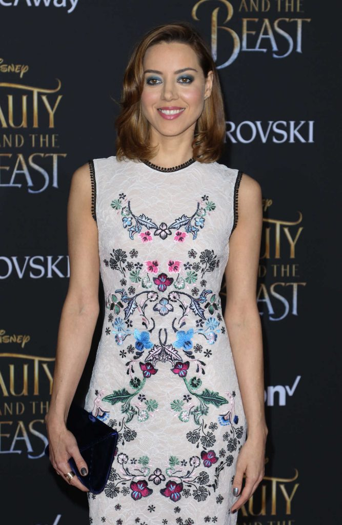 Aubrey Plaza at the Beauty and the Beast Premiere Los Angeles 03/02/2017-3