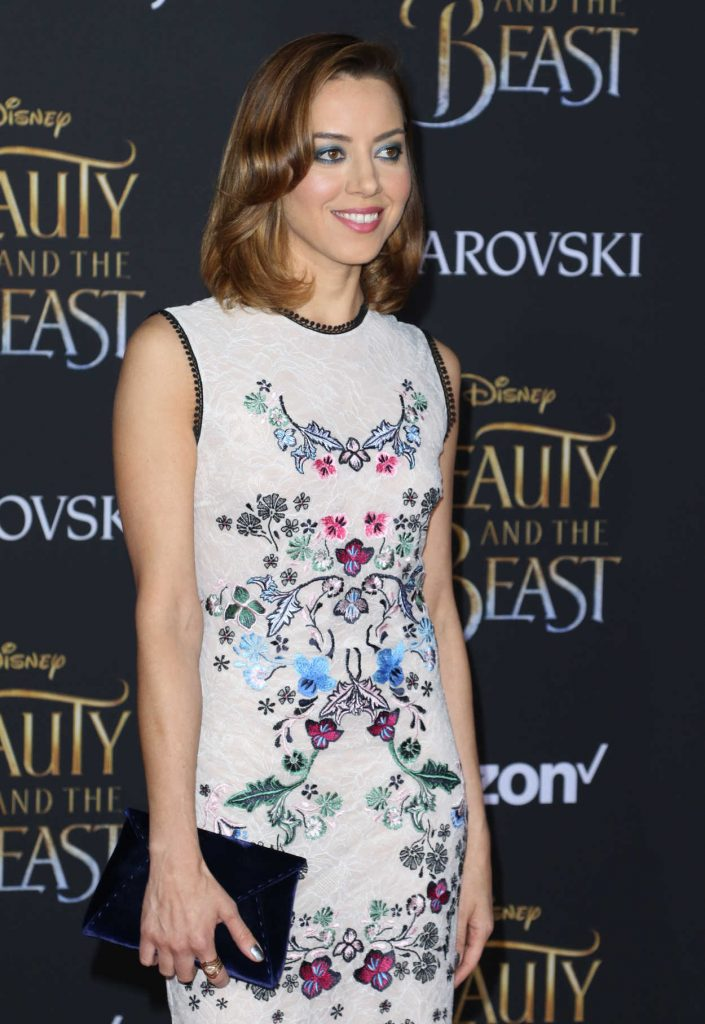 Aubrey Plaza at the Beauty and the Beast Premiere Los Angeles 03/02/2017-4