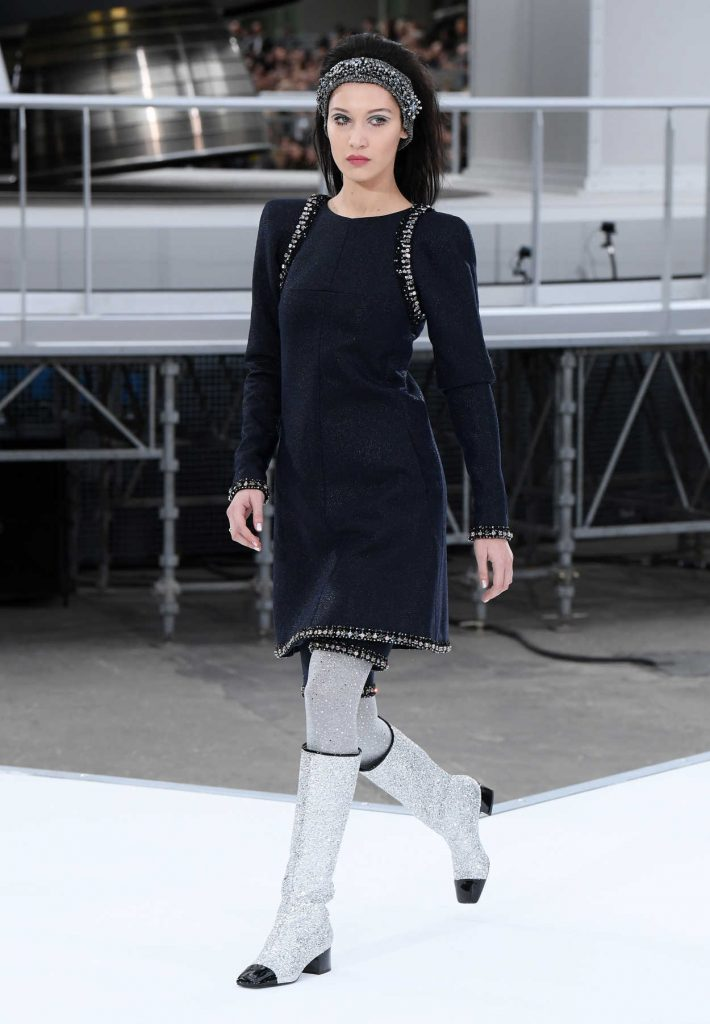 Bella Hadid at the Chanel Show During the Paris Fashion Week 03/07/2017-1