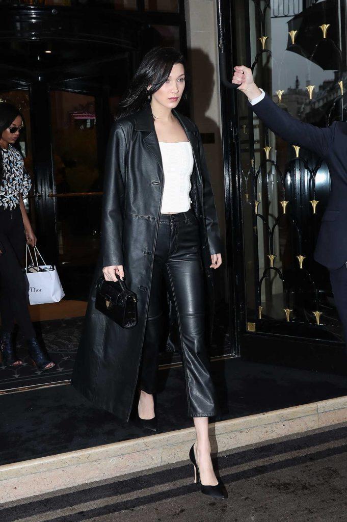 Bella Hadid Leaves Her Hotel in Paris 03/04/2017-1