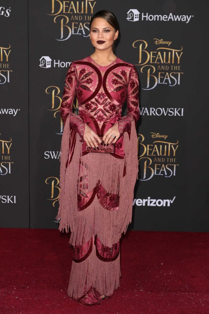 Chrissy Teigen at the Beauty and the Beast Premiere Los Angeles 03/02/2017-1