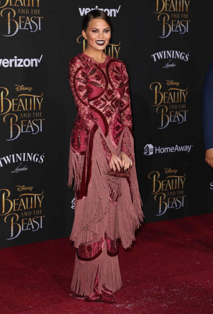 Chrissy Teigen at the Beauty and the Beast Premiere Los Angeles 03/02/2017-2