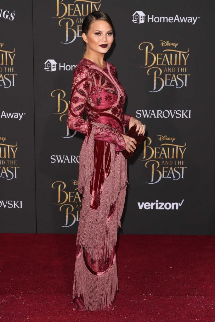 Chrissy Teigen at the Beauty and the Beast Premiere Los Angeles 03/02/2017-3