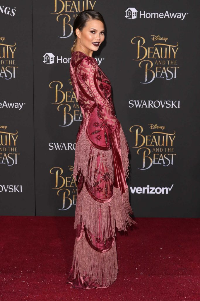 Chrissy Teigen at the Beauty and the Beast Premiere Los Angeles 03/02/2017-4