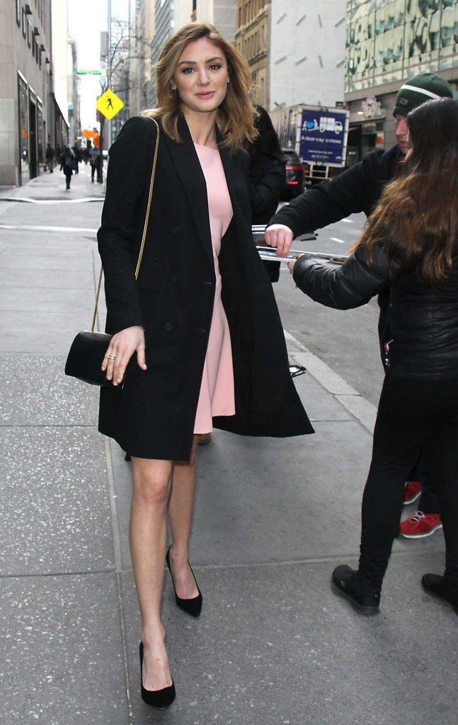 Christine Evangelista Arrives at Today Show in New York 02/27/2017-3
