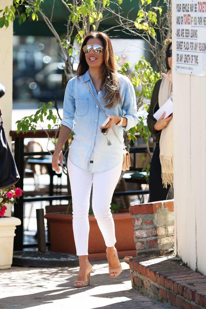 Eva Longoria Leaves Cafe Med Restaurant in West Hollywood 03/07/2017-1