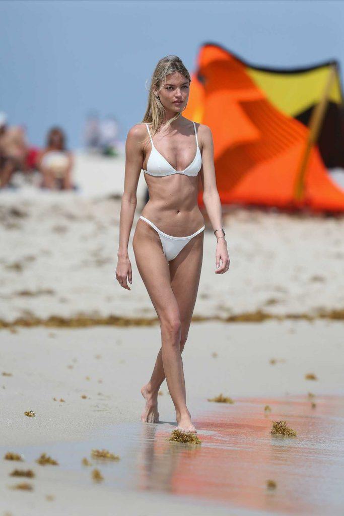 Tiny White Bikini 22