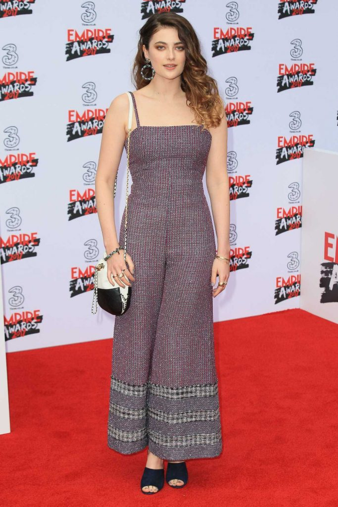 Millie Brady at the Three Empire Awards at Roundhouse in London 03/19/2017-2