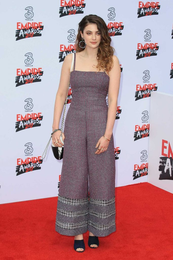 Millie Brady at the Three Empire Awards at Roundhouse in London 03/19/2017-3