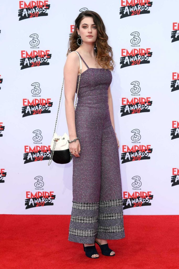 Millie Brady at the Three Empire Awards at Roundhouse in London 03/19/2017-4