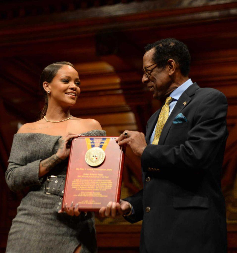 Rihanna Receives Harvard Humanitarian of the Year Award 02/28/2017-1