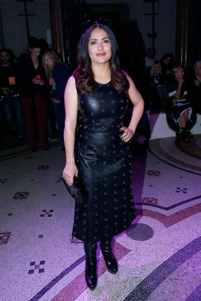 Salma Hayek at the Stella McCartney Show During the Paris Fashion Week 03/06/2017-2