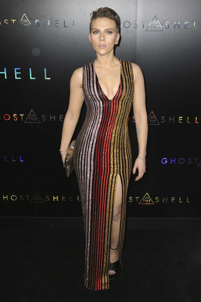 Scarlett Johansson at the Ghost in the Shell Premiere in New York 03/29/2017-1