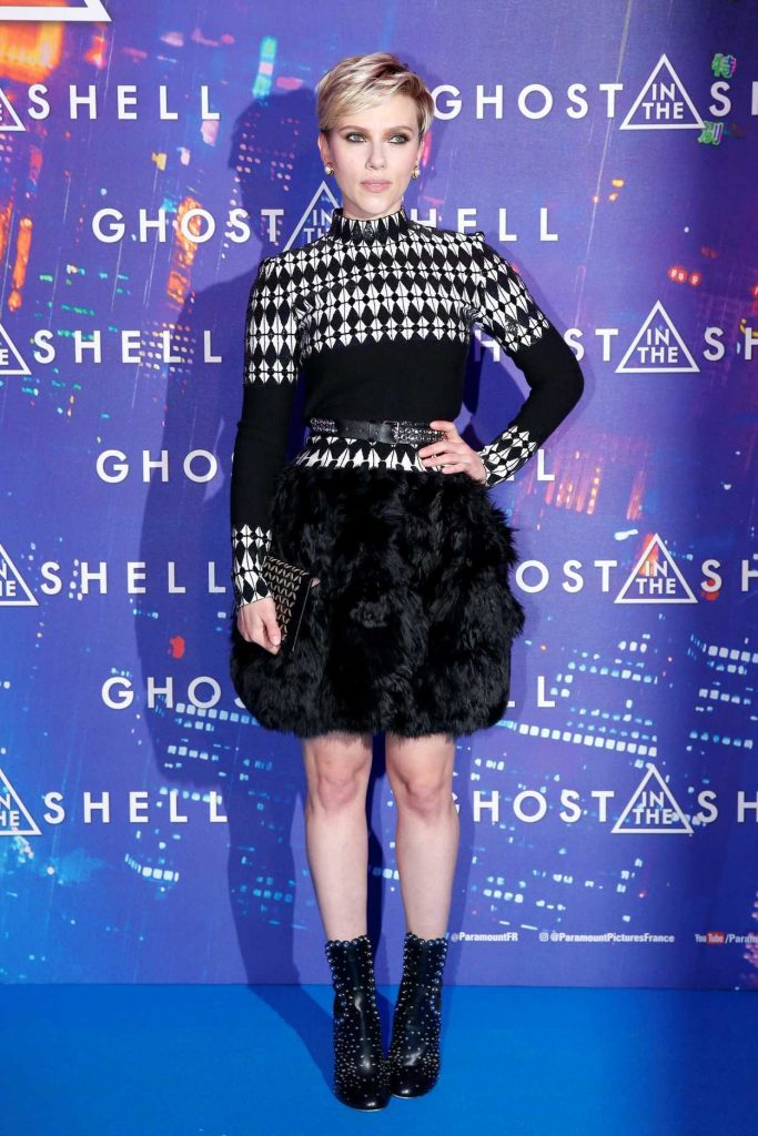 Scarlett Johansson at the Ghost in the Shell Premiere in Paris 03/21/2017-1