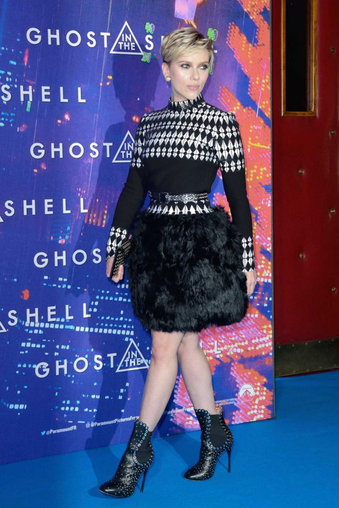 Scarlett Johansson at the Ghost in the Shell Premiere in Paris 03/21/2017-4