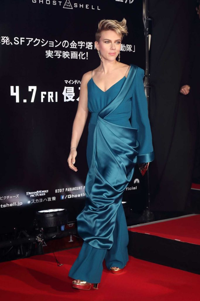 Scarlett Johansson at the Ghost in The Shell Premiere in Tokyo 03/16/2017-3