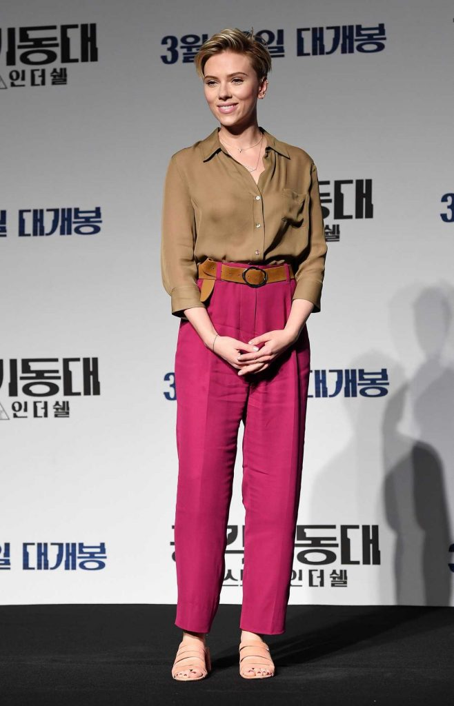Scarlett Johansson at the Ghost in The Shell Seoul Press Conference 03/17/2017-1