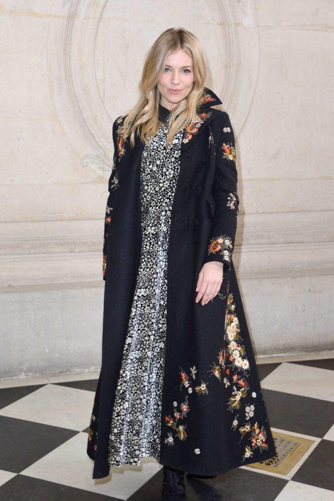Sienna Miller at the Christian Dior Show During the Paris Fashion Week 03/03/2017-1