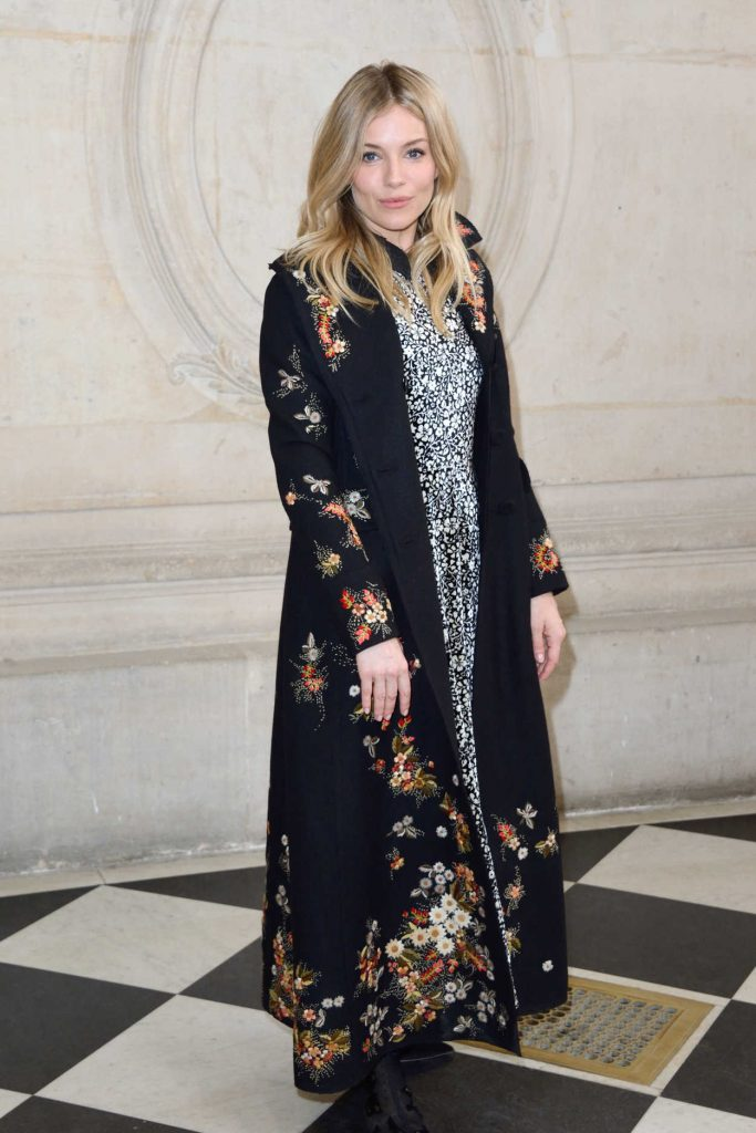 Sienna Miller at the Christian Dior Show During the Paris Fashion Week 03/03/2017-2