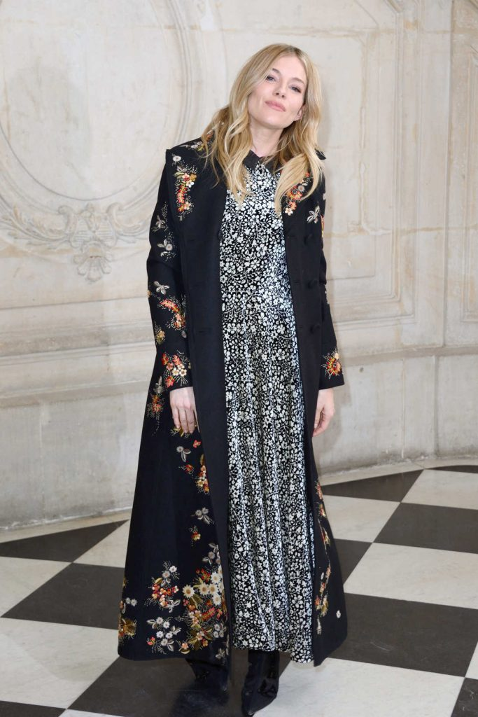 Sienna Miller at the Christian Dior Show During the Paris Fashion Week 03/03/2017-3