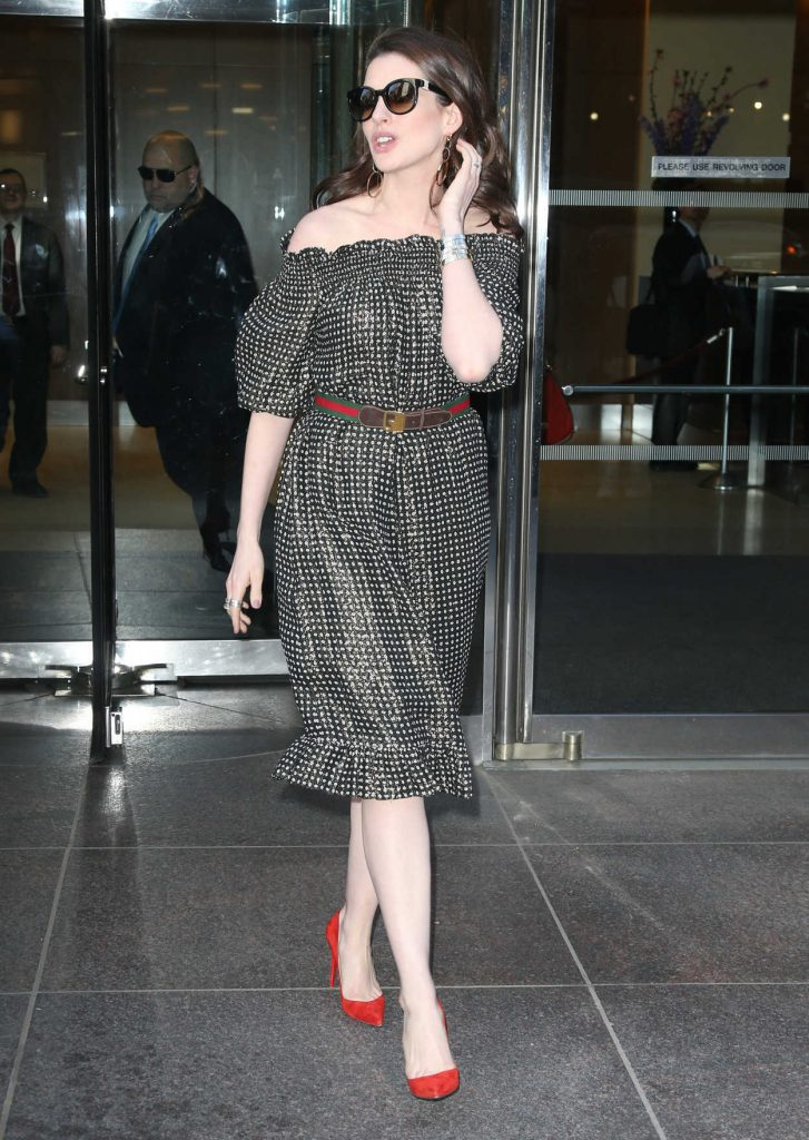 Anne Hathaway Stops by Watch What Happens Live in New York 04/18/2017-3