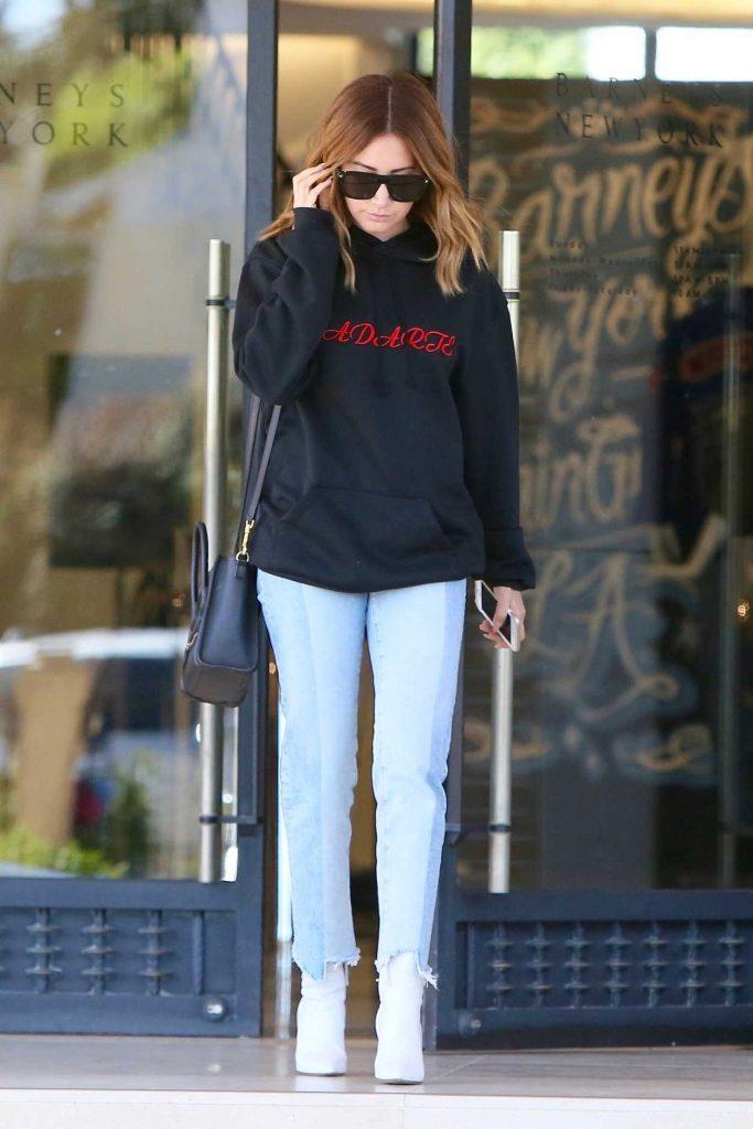 Ashley Tisdale Leaves Barneys in LA 03/31/2017-1