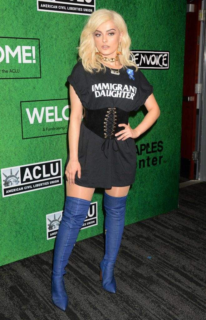 Bebe Rexha at the Zedd's Welcome! ACLU Benefit Concert in Los Angeles 04/03/2017-1