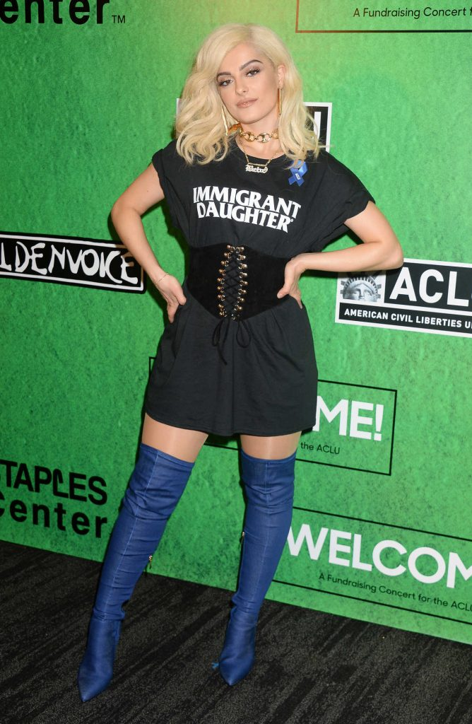 Bebe Rexha at the Zedd's Welcome! ACLU Benefit Concert in Los Angeles 04/03/2017-2