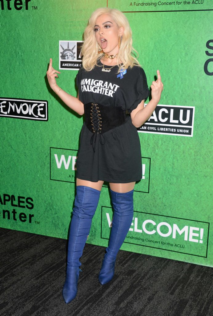 Bebe Rexha at the Zedd's Welcome! ACLU Benefit Concert in Los Angeles 04/03/2017-3