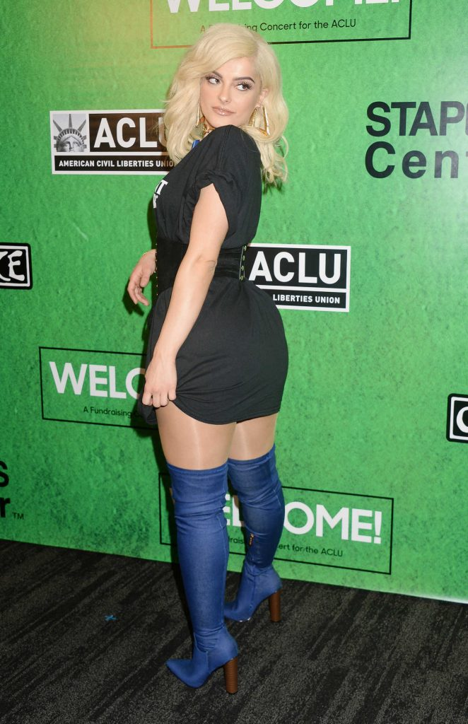 Bebe Rexha at the Zedd's Welcome! ACLU Benefit Concert in Los Angeles 04/03/2017-4