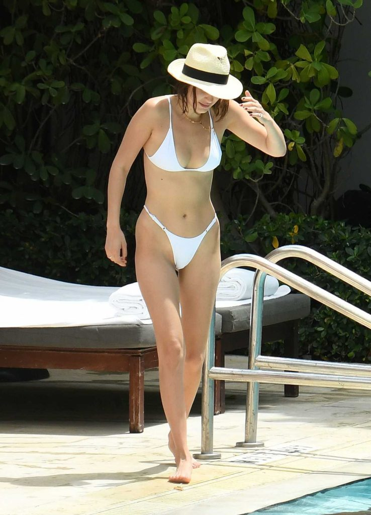 Bella Hadid in Bikini by a Pool in Miami 04/28/2017-1
