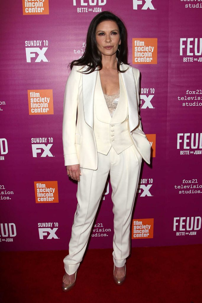 Catherine Zeta-Jones Arrives at the Feud Premiere in New York City 04/18/2017-2