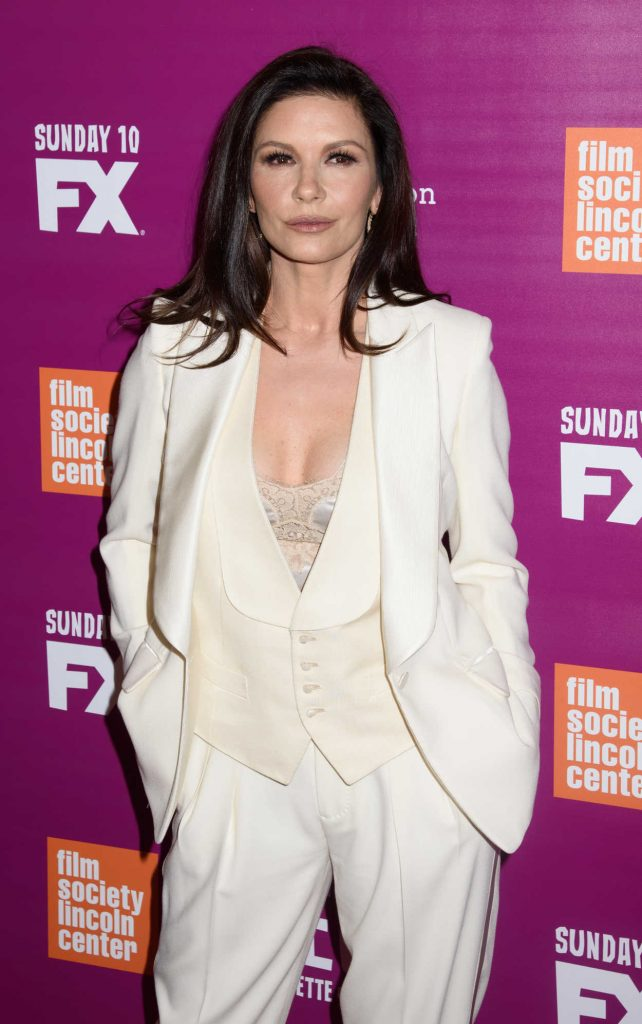 Catherine Zeta-Jones Arrives at the Feud Premiere in New York City 04/18/2017-3