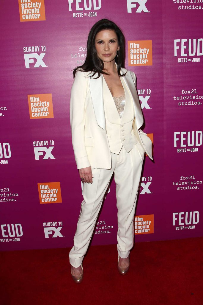 Catherine Zeta-Jones Arrives at the Feud Premiere in New York City 04/18/2017-4