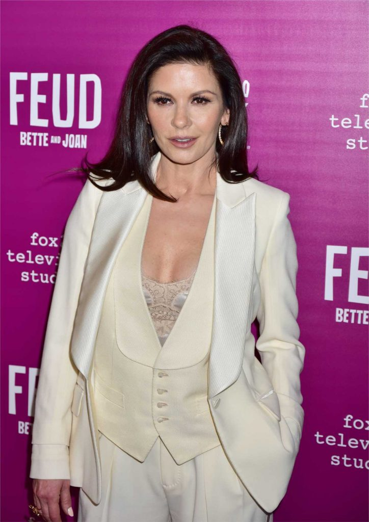 Catherine Zeta-Jones Arrives at the Feud Premiere in New York City 04/18/2017-5