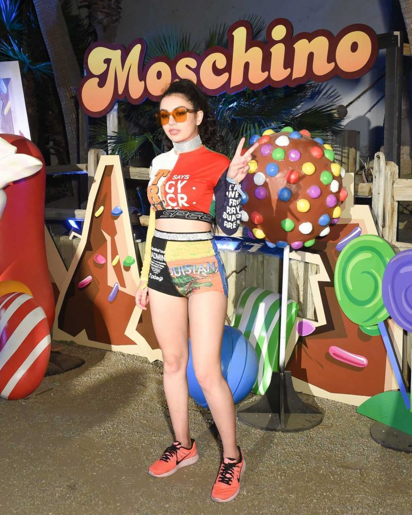 Charli XCX at the Moschino Candy Crush Desert Party at Corona Yacht Club in Coachella 04/15/2017-1