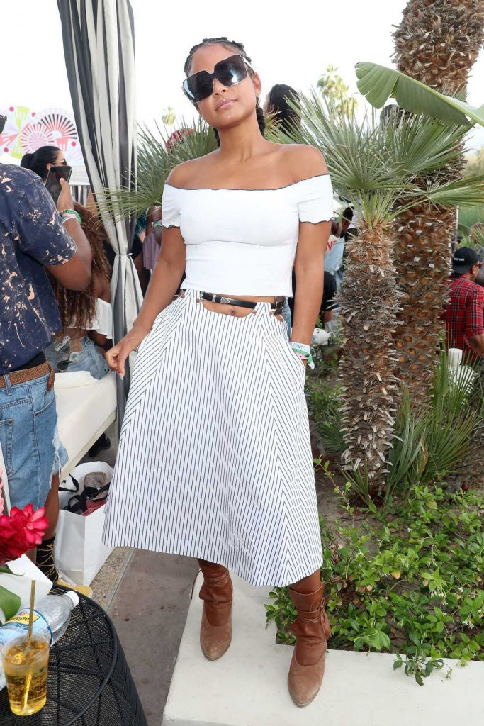 Christina Milian Attends the REVOLVE Desert House During the Coachella Valley Music and Arts Festival in Palm Springs 04/16/2017-1