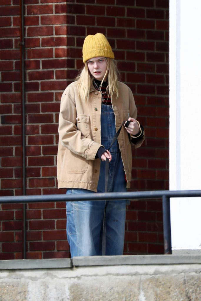 Elle Fanning on the Set of I Think We're Alone Now in Westchester County 04/03/2017-1