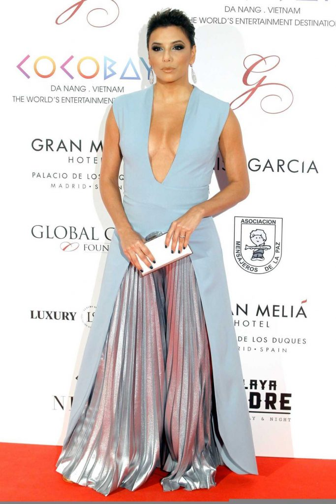 Eva Longoria Attends the Global Gift Gala 2017 at the Royal Teather in Madrid 04/04/2017-1