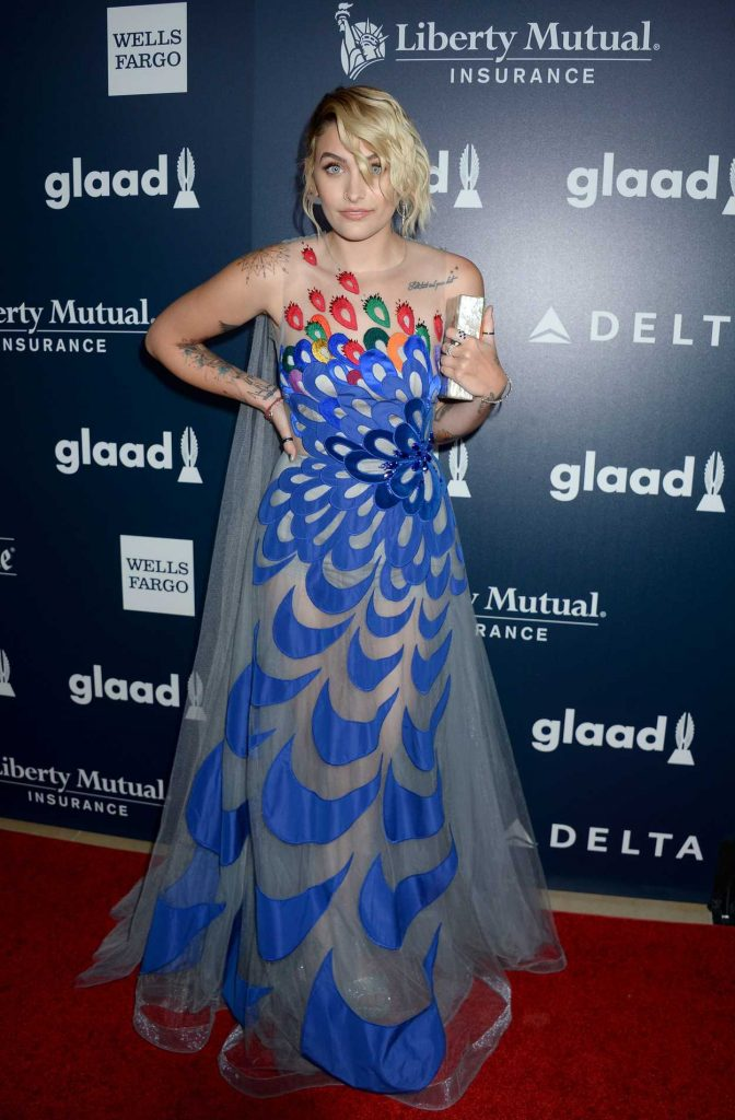 Paris Jackson at the 28th Annual GLAAD Media Awards in Los Angeles 04/01/2017-2